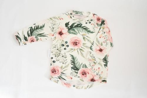 Basic Shirt Mädchen, Blumen