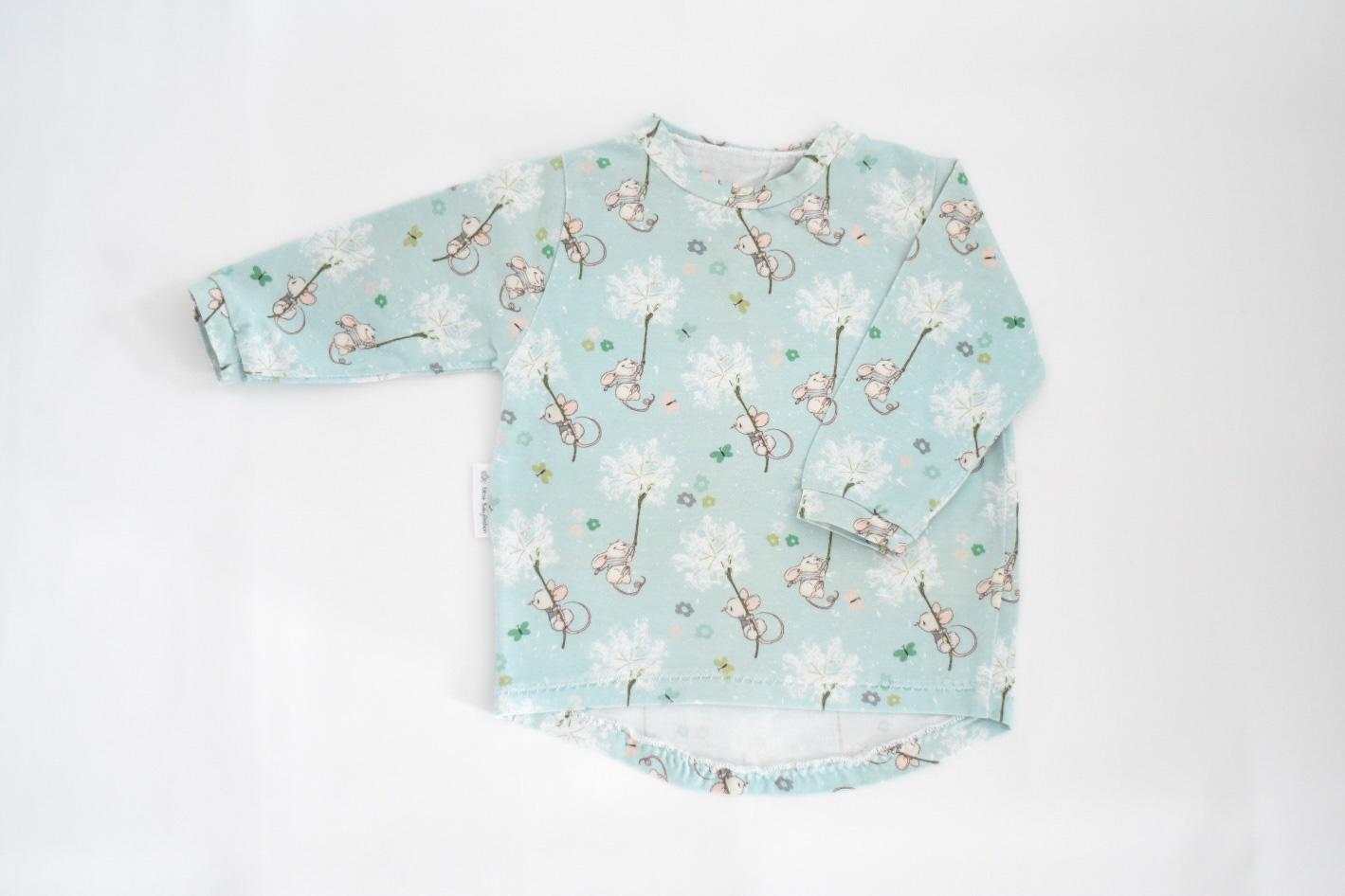 Basic Shirt Mädchen, Maus
