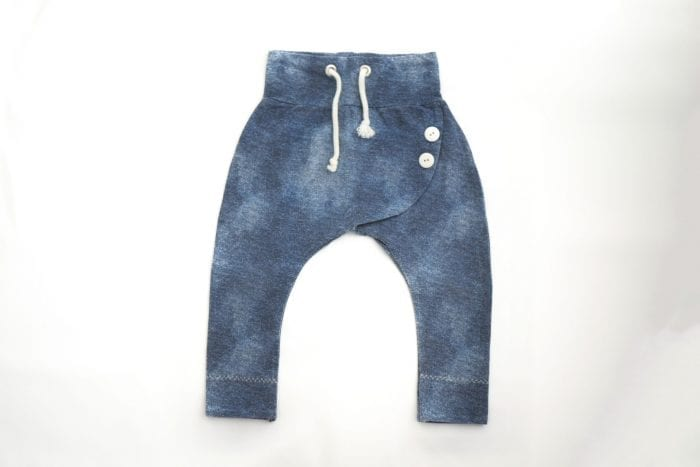 Hose mit Überschlag - Jinxhose blauer Stoff