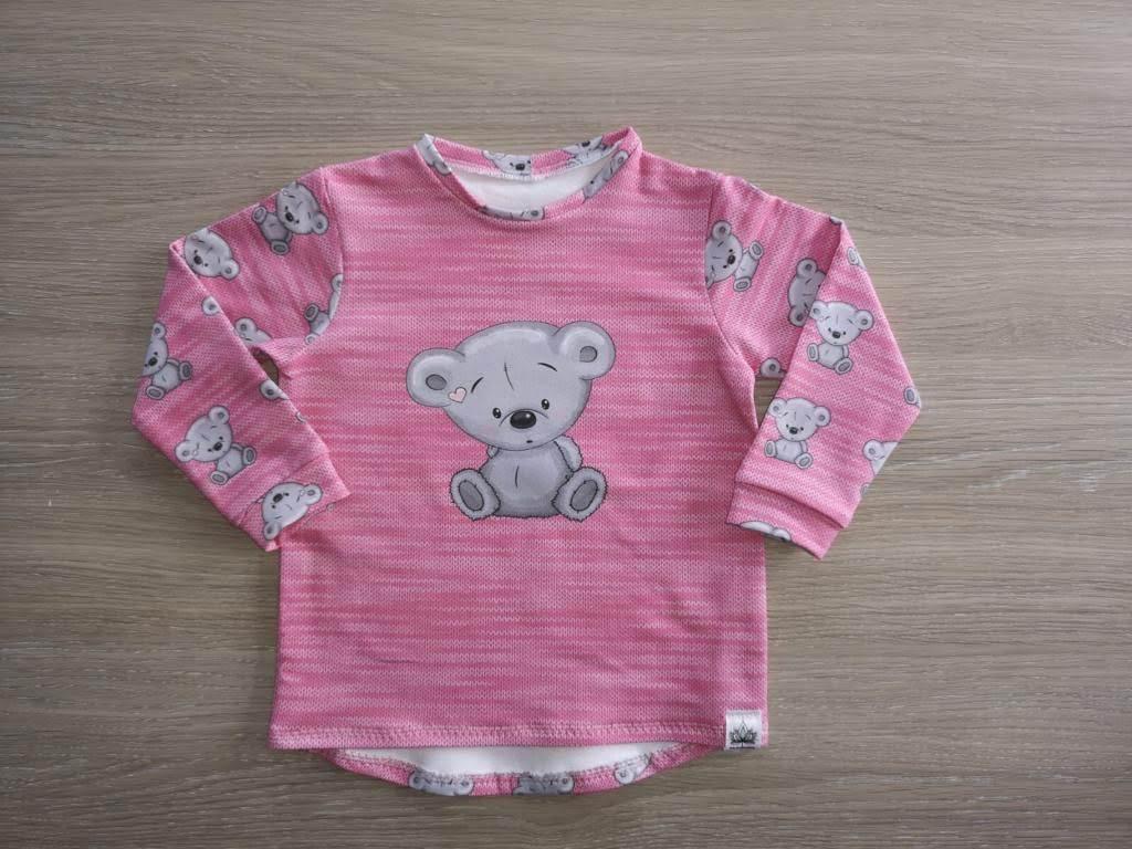 Basic Shirt Mädchen, Bär