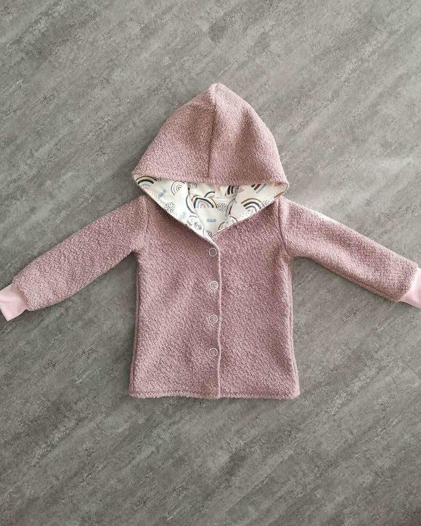 Basic Jacke Mädchen, rosa