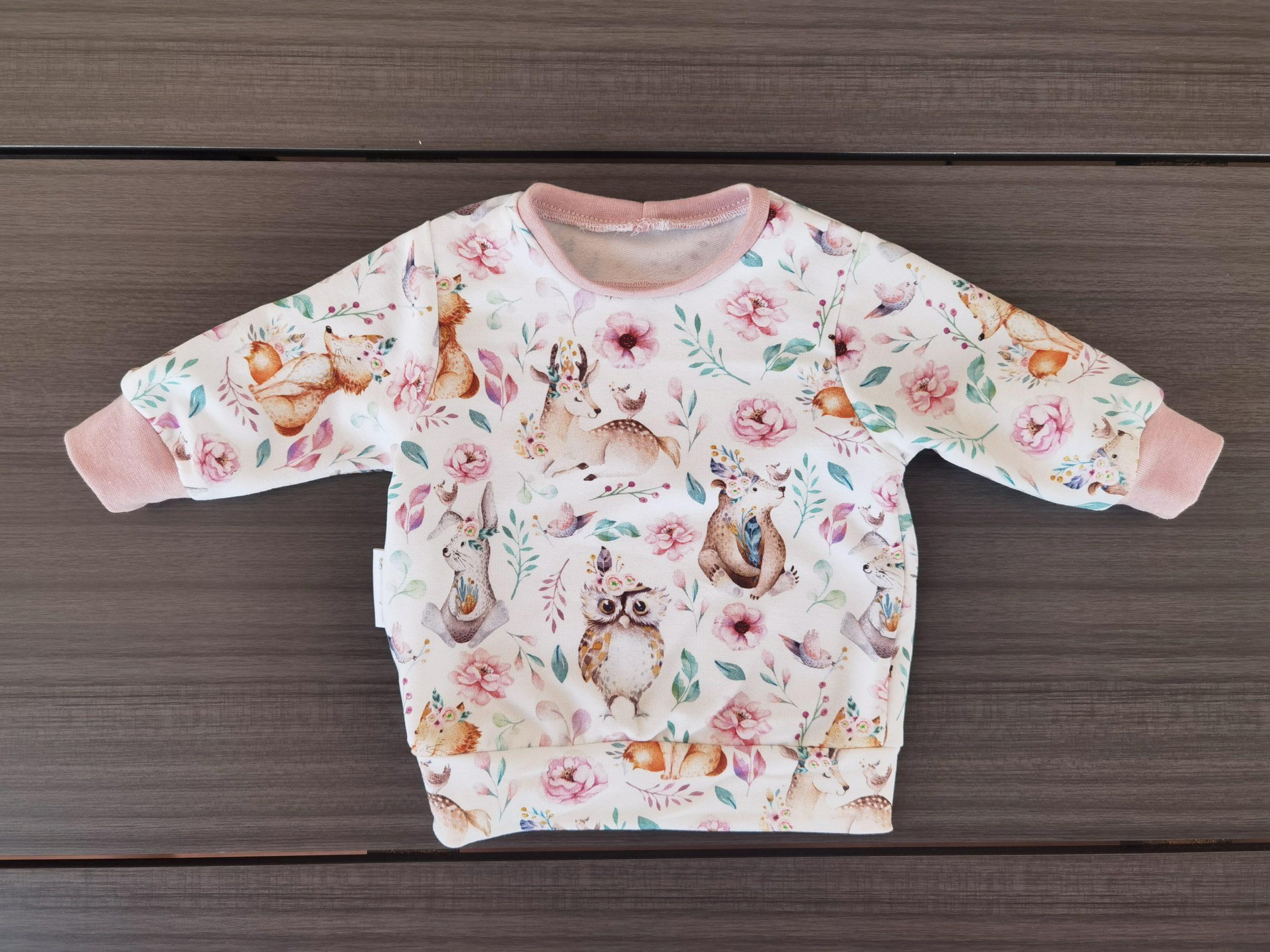Basic Pullover Mädchen, Waldtiere