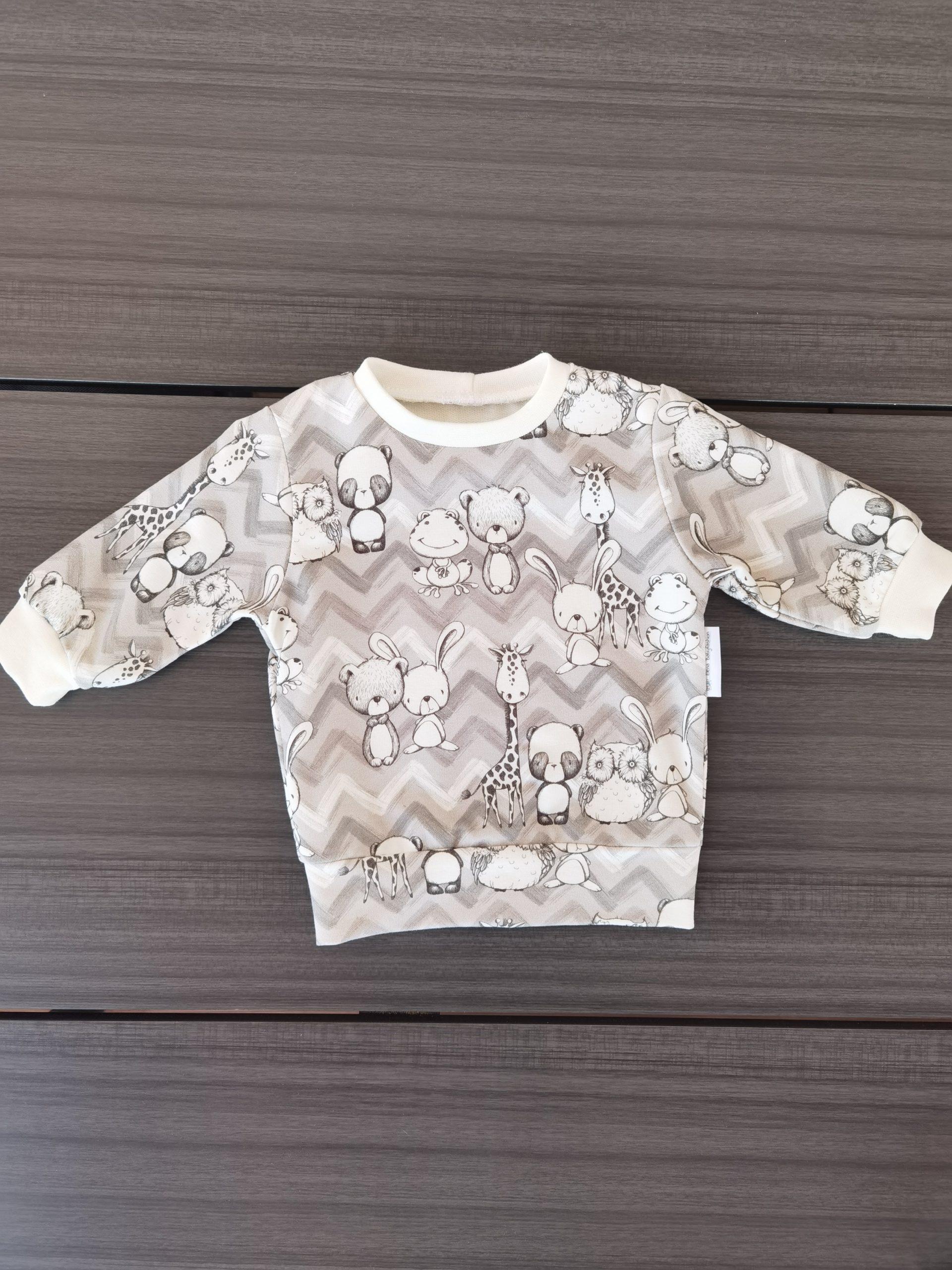Basic Pullover Mädchen, Tiere